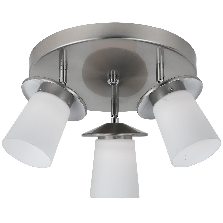 the best attitude e3144 a1a82 Bel Air Lighting 15-in W Brushed Nickel LED Ceiling Flush ...
