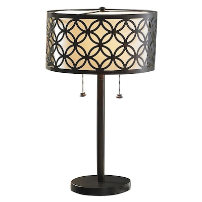 25 In Oil Rubbed Bronze Table Lamp With Metal Shade
