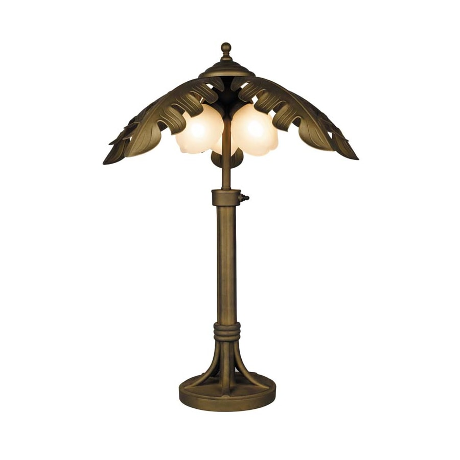 Portfolio 27 1 2 In H Oil Rubbed Bronze Outdoor Table Lamp With