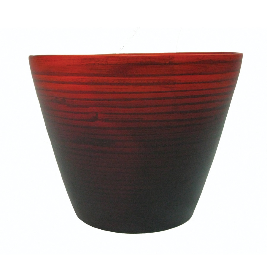 allen + roth 7-1/2-in H x 9-7/8-in W x 9-7/8-in D Red Indoor Planter