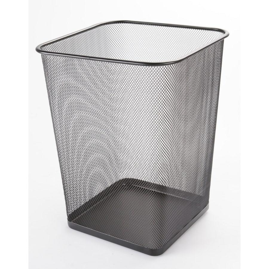 4.76-Gallon Black Indoor Garbage Can
