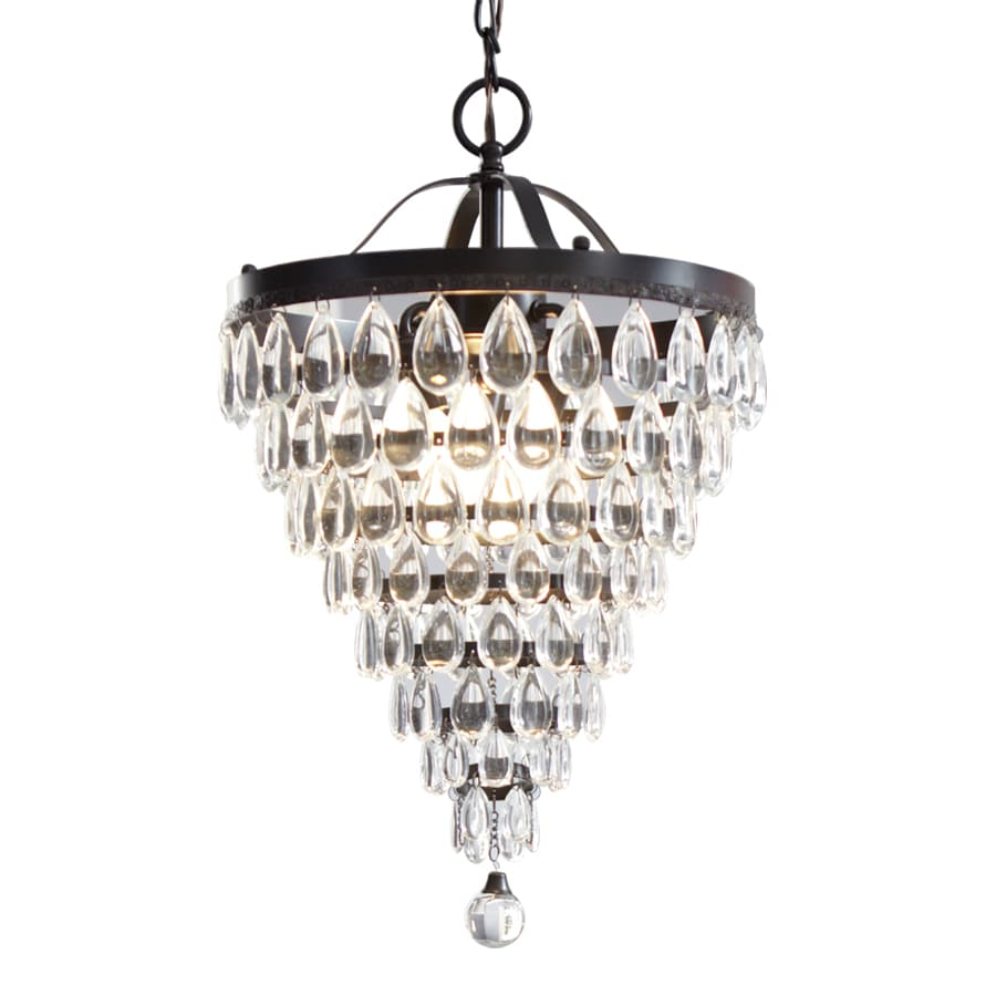 Style Selections 3-Light Antique Bronze Crystal Chandelier - Shop Style Selections 3-Light Antique Bronze Crystal Chandelier At