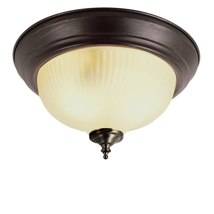 Project Source 11.37-in W Oil-Rubbed Bronze Ceiling Flush Mount
