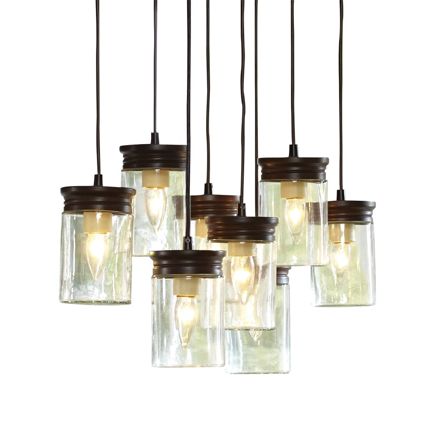 Shop Allen Roth In W OilRubbed Bronze Standard Pendant Light - Lowes pendant lights for kitchen