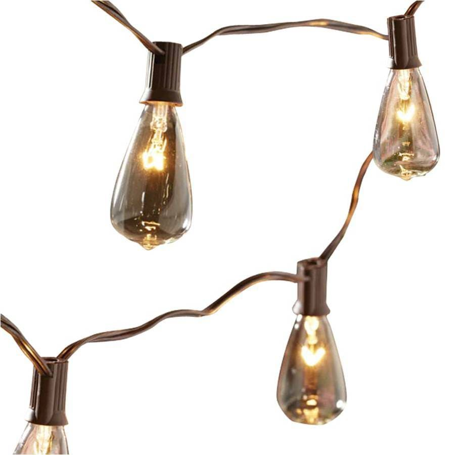 Shop allen + roth 14-ft 10-Light String Lights at Lowes.com