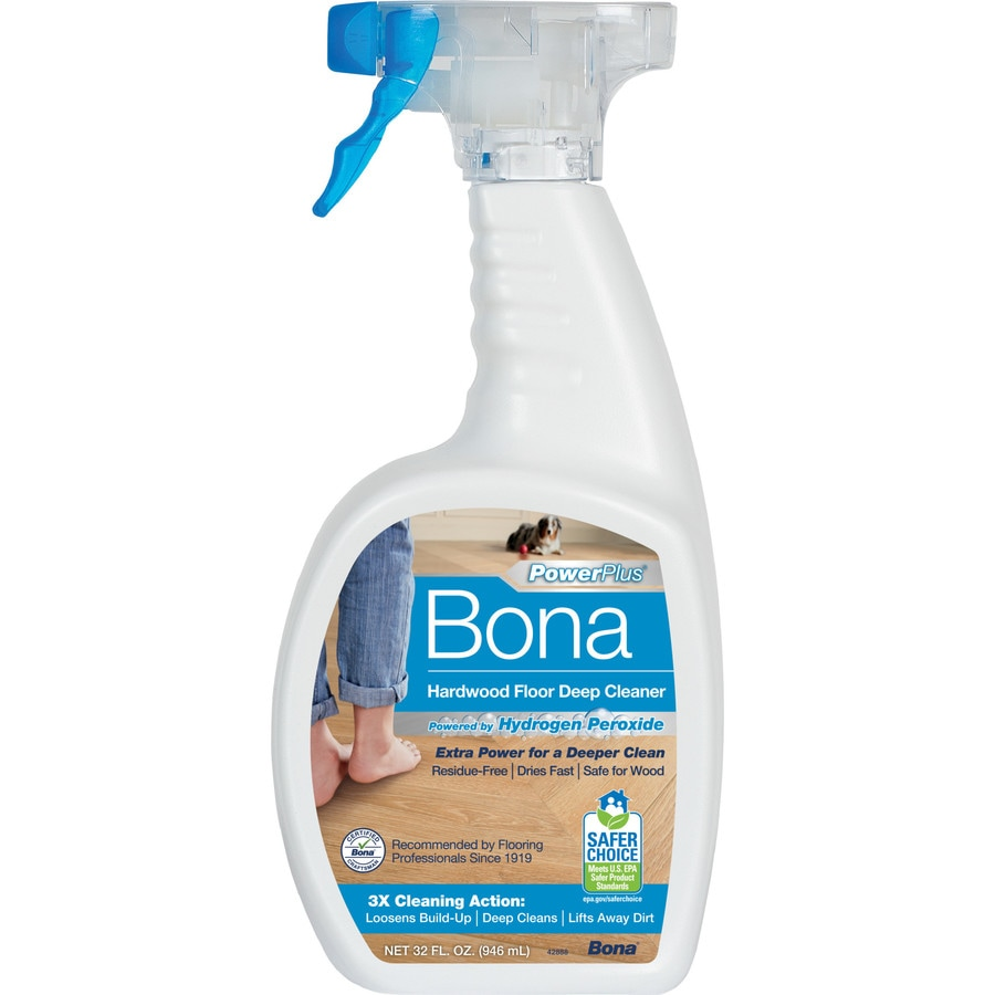 Shop bona powerplus 32 fl oz hardwood floor cleaner at for Hardwood floor cleaner