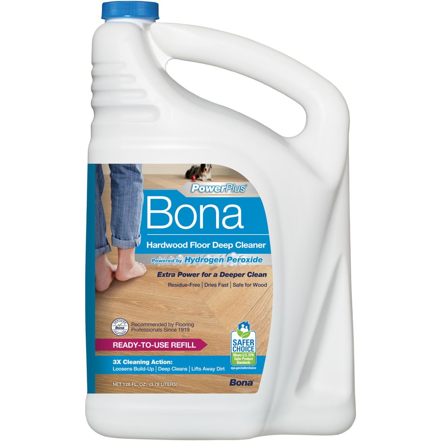 Shop bona powerplus 128 oz hardwood floor cleaner at for Floor cleaning