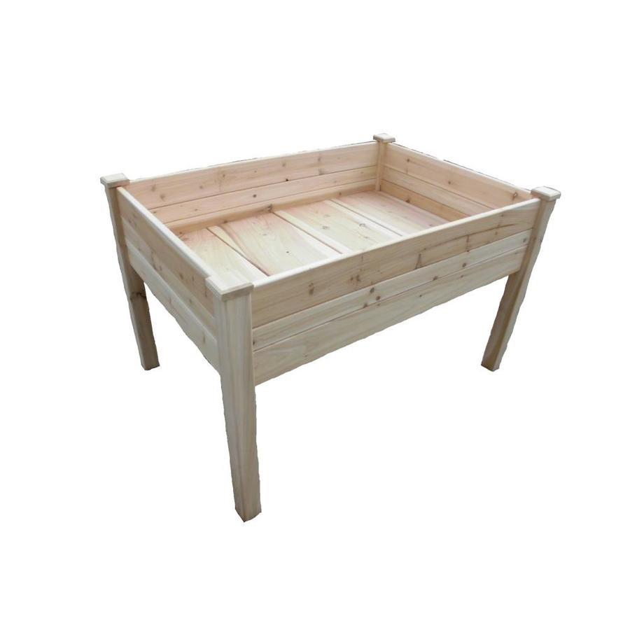 Eden 24-in W X 36-in L X 32-in H Wood Raised Garden Bed At