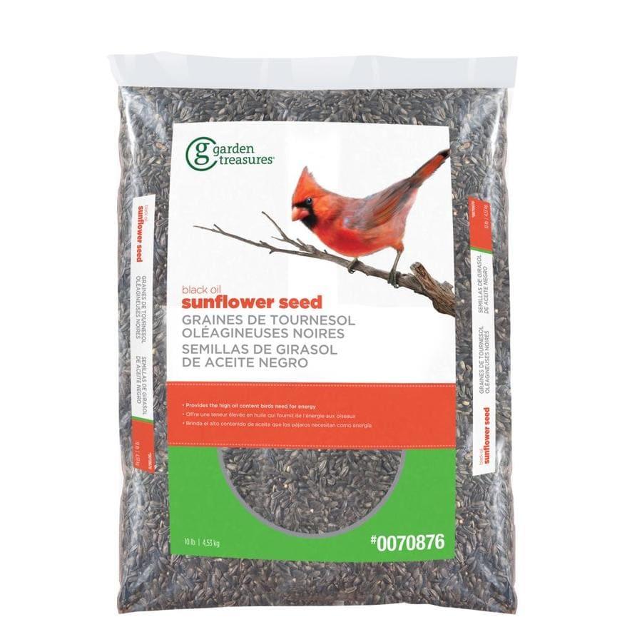 Garden Treasures 10-lb Black Oil Sunflower Wild Bird Seed