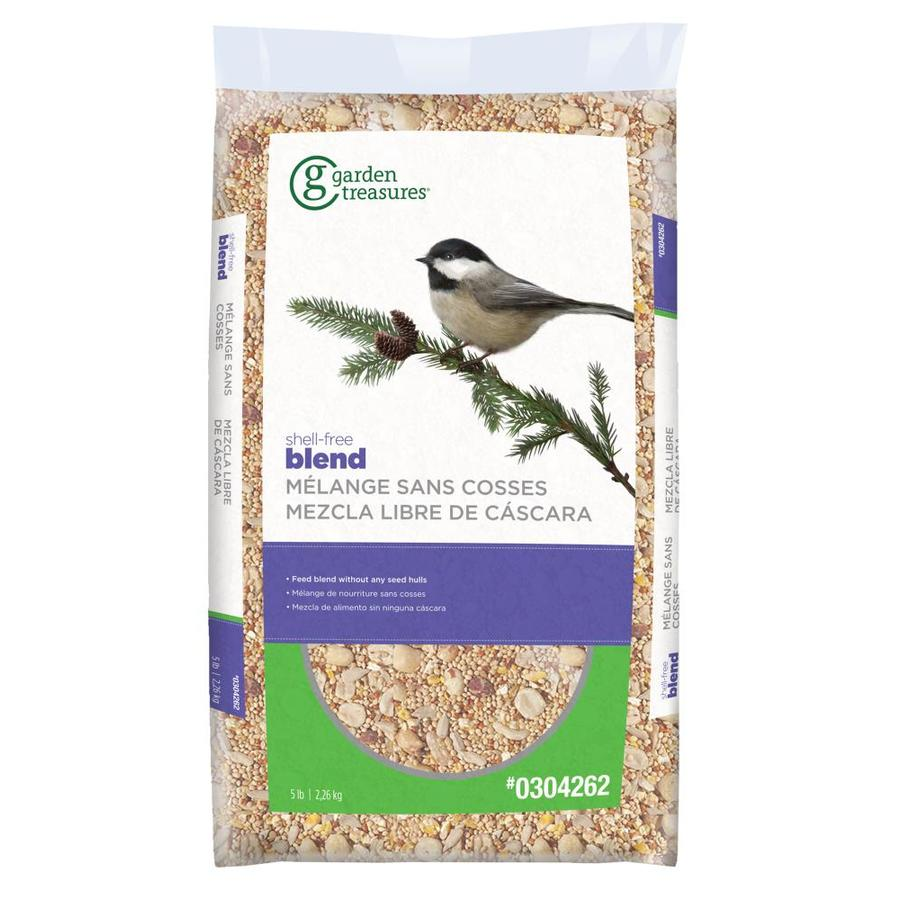 Garden Treasures Mess 5-lb Bird Seed Bag (Hulled Sunflower Seed)