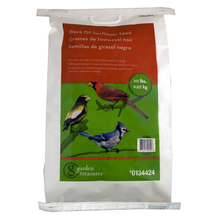 Garden Treasures 20-lb Bird Seed Bag (Black Oil Sunflower)