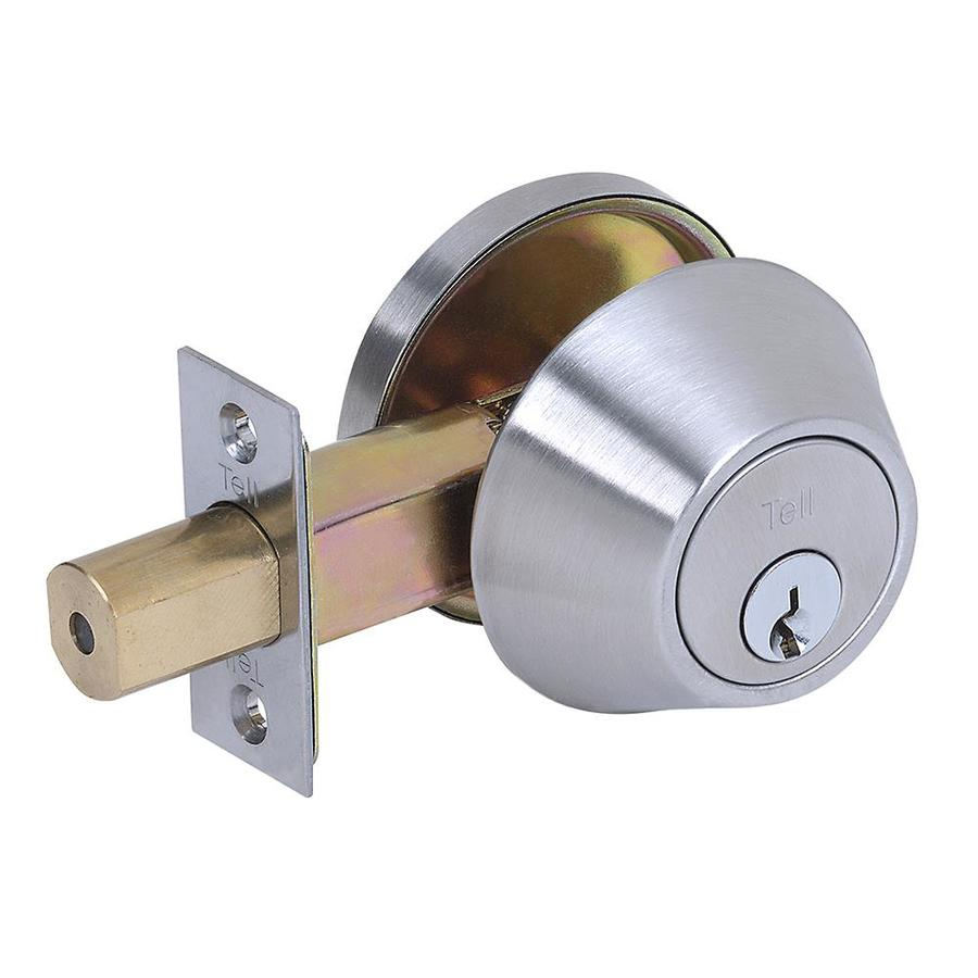 Commercial//Residential LT2000 Light Duty Cortland Satin Chrome Push-Button Lock Privacy Door Handle Tell Manufacturing 758470
