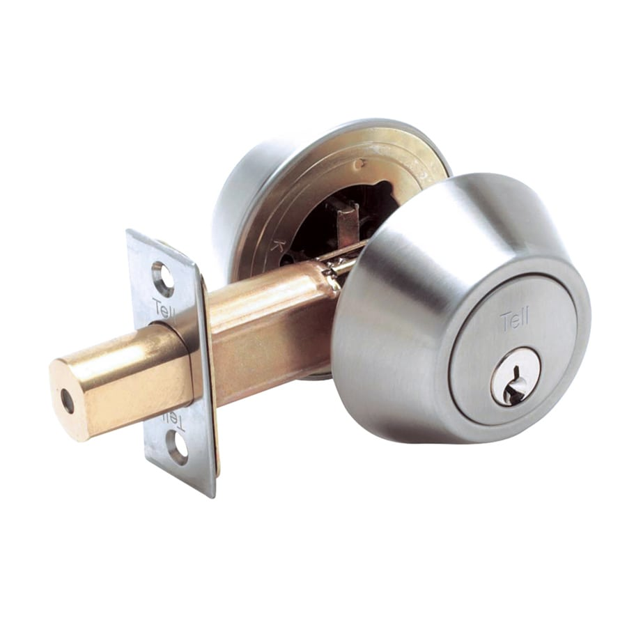TELL MANUFACTURING, INC. DB2000 Stainless Steel Single-Cylinder Deadbolt