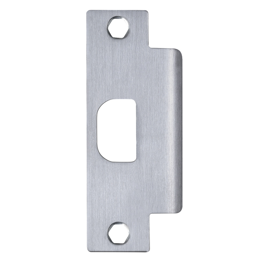 stainless steel entry door jamb strike plate