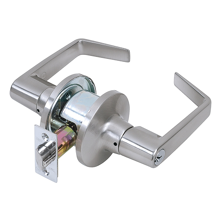 TELL MANUFACTURING, INC. LT2000 Satin Chrome Keyed Entry Door Lever