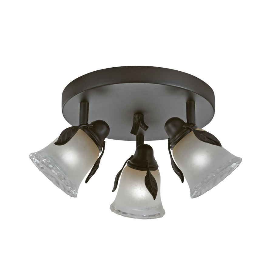 Shop portfolio branches 3 light 9 in olde bronze dimmable flush portfolio branches 3 light 9 in olde bronze dimmable flush mount fixed track light mozeypictures Images