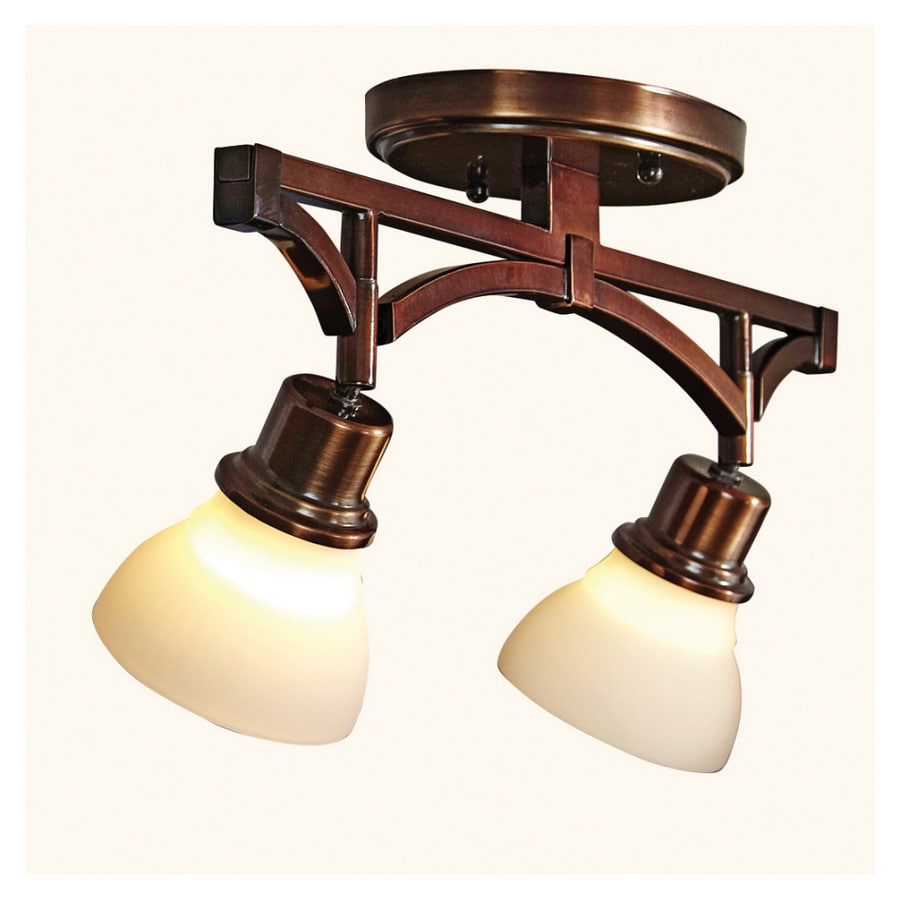 Lowes Track Lighting Fixtures: Portfolio 2-Light Bronze Traditional Track Lighting