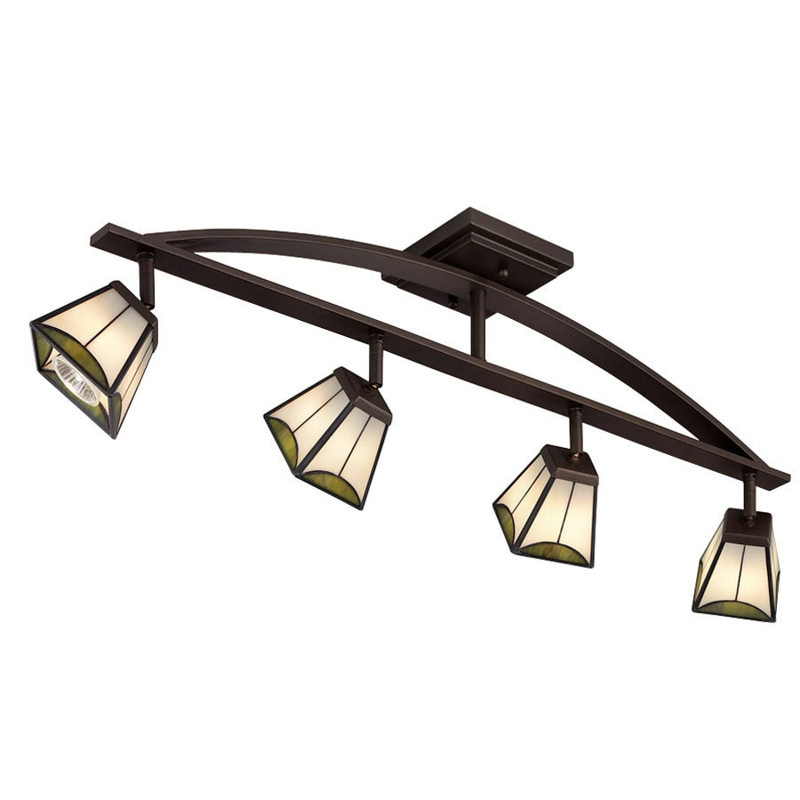 portfolio track lighting antique portfolio 4light mission bronze dimmable fixed track lighting kit