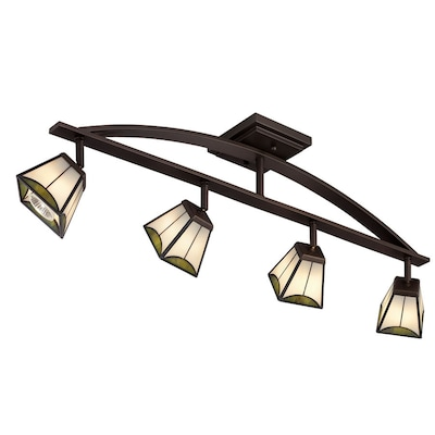 4 Light Mission Bronze Dimmable Fixed Track Lighting Kit