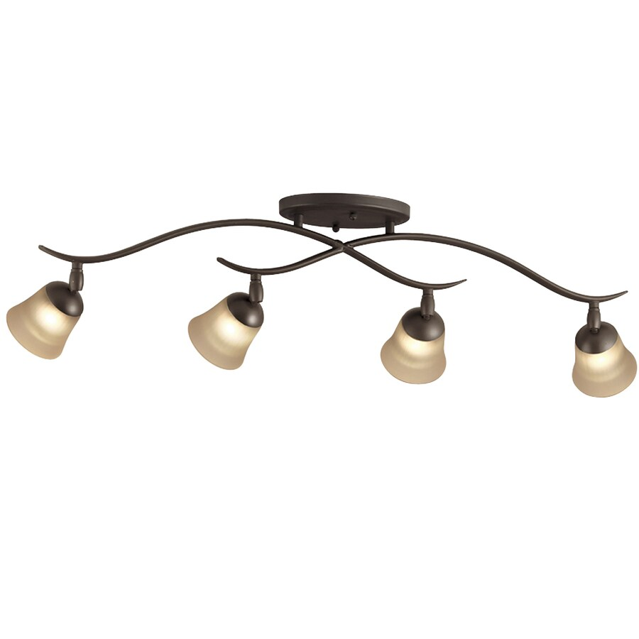 Portfolio 4-Light 32-in Olde Bronze Dimmable Fixed Track Light Kit