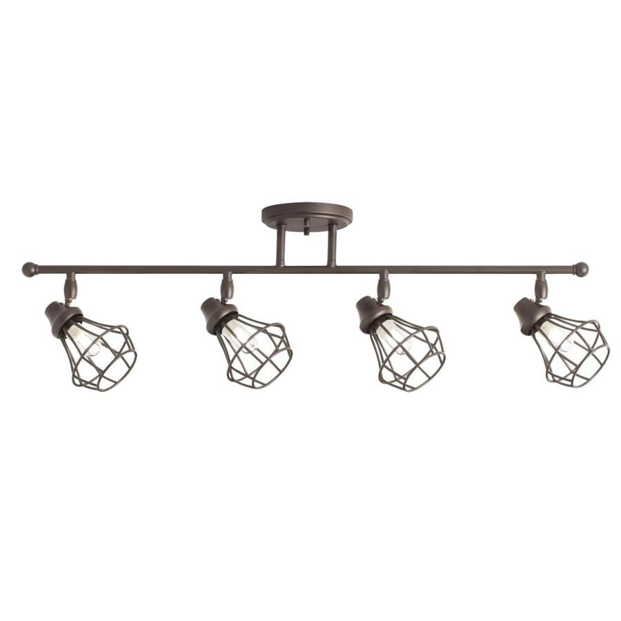 Kichler Bayley 4-Light 32.24-in Olde Bronze Dimmable Track Bar Fixed Track Light Kit