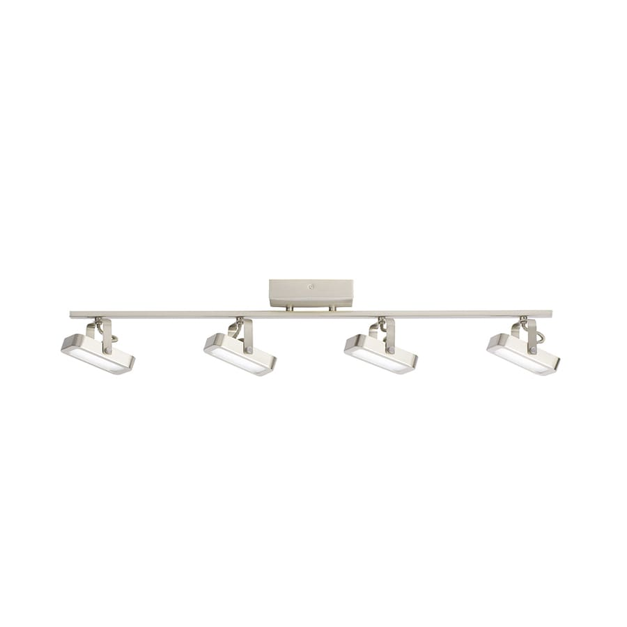 Shop kichler 4 light 3075 in satin nickel dimmable led track bar kichler 4 light 3075 in satin nickel dimmable led track bar fixed track light aloadofball Choice Image