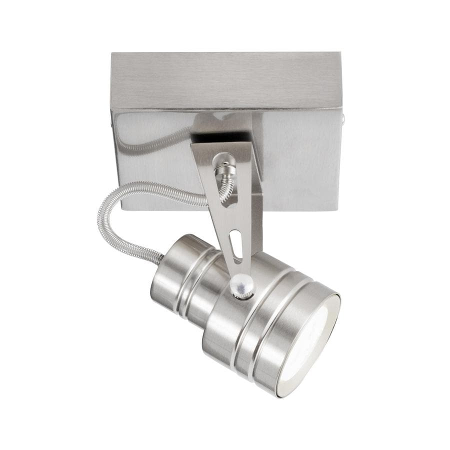 nickel dimmable led flush mount fixed track light kit at