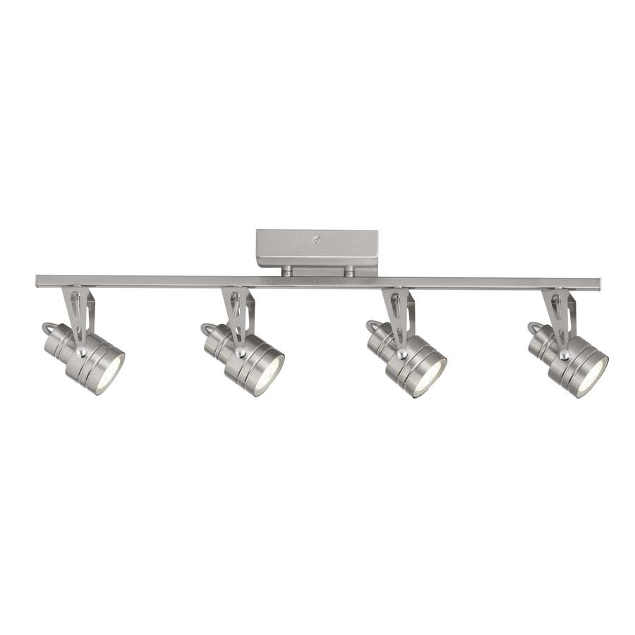 light 24 8 in satin nickel dimmable led fixed track light kit at lowes