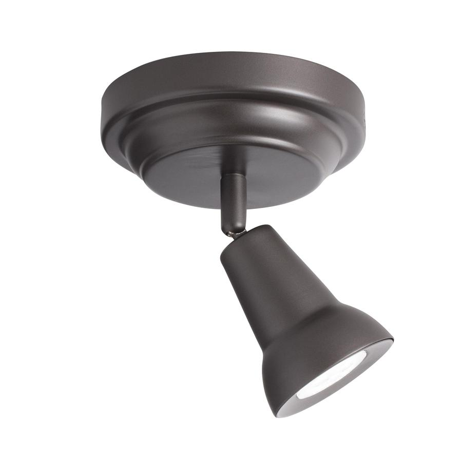Kichler Saura 1-Light 5.31-in Oil Rubbed Bronze Dimmable Integrated Flush-Mount Fixed Track Light Kit