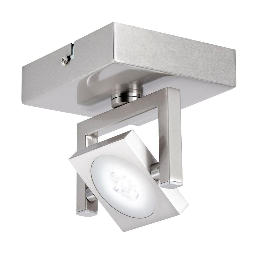 Kichler Isobel 1-Light 4.92-in Satin Nickel Dimmable LED Flush Mount Fixed Track Light Kit