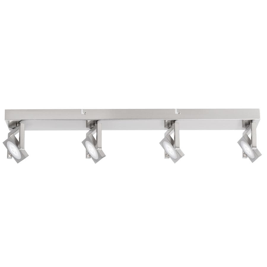 in satin nickel dimmable led track bar light kit fixed track light kit