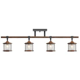 Shop fixed track lighting kits at lowesforpros kichler barrington 4 light 32 in dimmable track bar fixed track light kit aloadofball Images