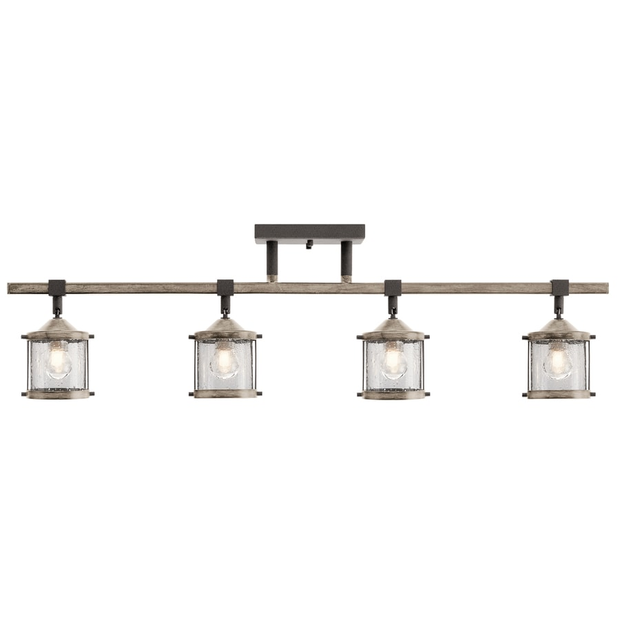 Kichler Barrington 4 Light 32 In Anvil Iron And Driftwood