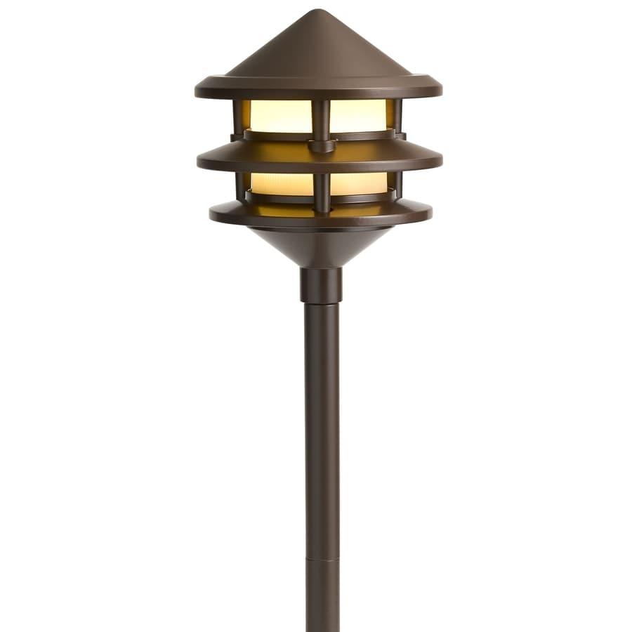 Shop kichler 3 watt olde bronze low voltage led path light at lowes kichler 3 watt olde bronze low voltage led path light aloadofball Gallery