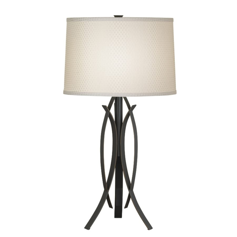 Portfolio Lebach 26.5-in 3-Way Olde Bronze Indoor Table Lamp with Fabric Shade
