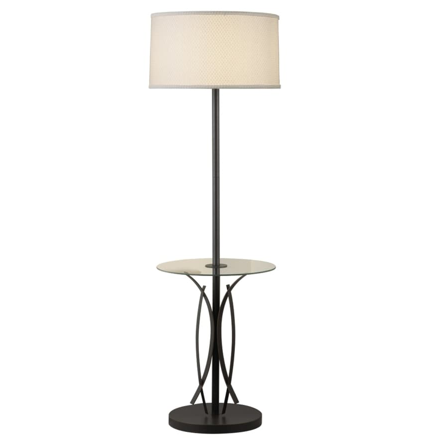 Portfolio Lebach 56-in 3-Way Olde Bronze Indoor Floor Lamp with Fabric Shade