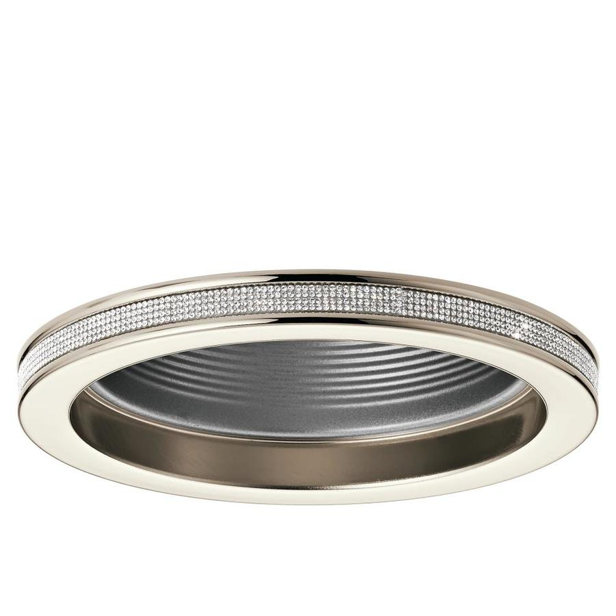 Shop recessed light trim at lowes kichler angelica polished nickel baffle recessed light trim fits housing diameter 6 in aloadofball Image collections
