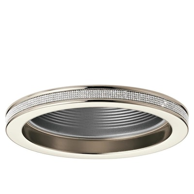 Angelica Polished Nickel Baffle Recessed Light Trim Fits Housing Diameter 6 In