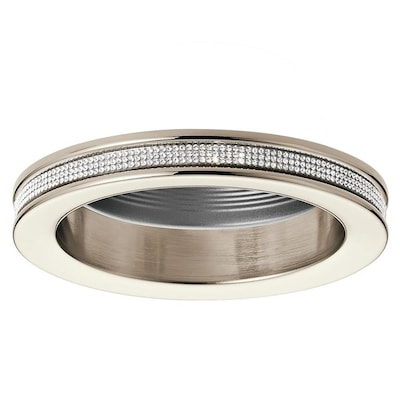 Angelica Polished Nickel Baffle Recessed Light Trim Fits Housing Diameter 4 In