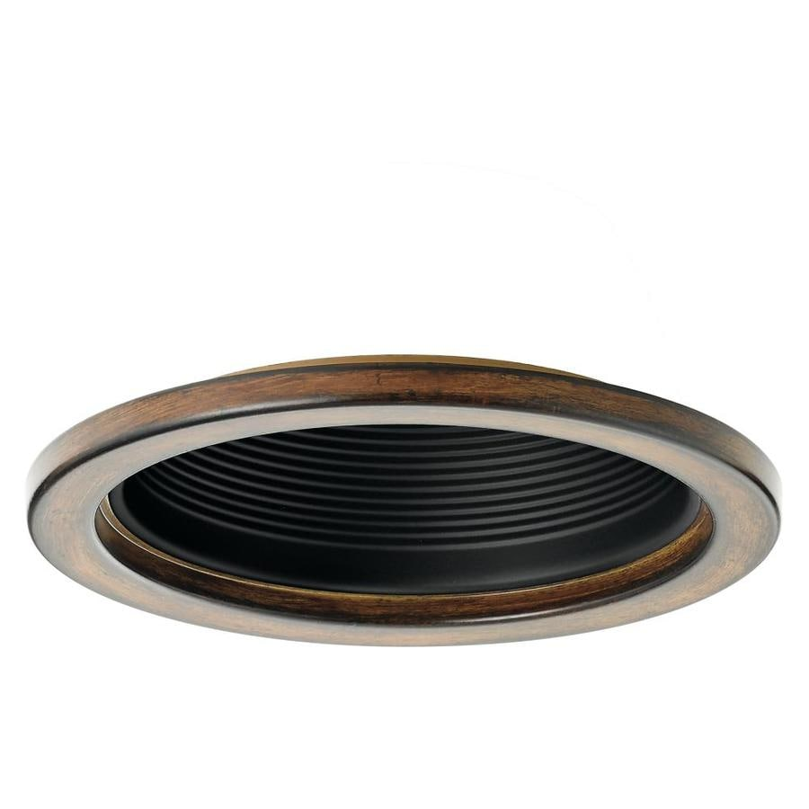 Shop recessed light trim at lowes kichler barrington distressed black and wood baffle recessed light trim fits housing diameter 6 aloadofball Image collections