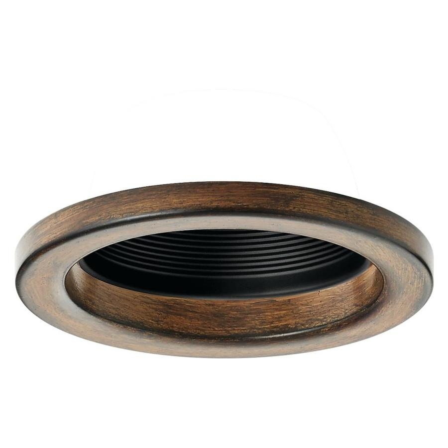 Kichler Barrington Distressed black and wood Baffle Recessed Light Trim (Fits Housing Diameter 4  sc 1 st  Loweu0027s & Shop Kichler Barrington Distressed black and wood Baffle Recessed ...