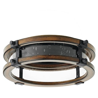 Barrington Distressed Black And Aged Wood Baffle Recessed Light Trim Fits Housing Diameter 6 In