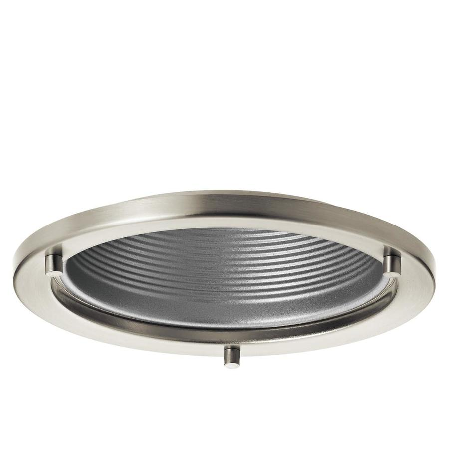 Shop recessed light trim at lowes kichler marita brushed nickel and silver baffle recessed light trim fits housing diameter 6 aloadofball Image collections
