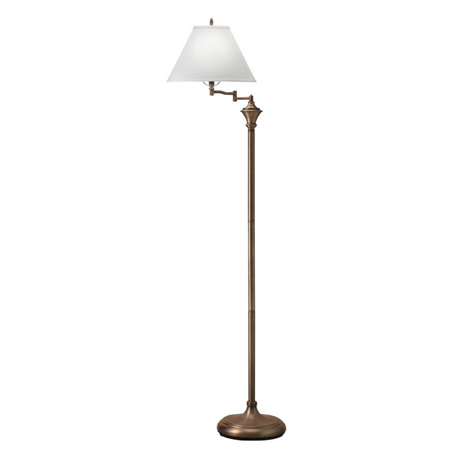 Shop portfolio 60 antique bronze swing arm floor lamp at lowes portfolio 60 antique bronze swing arm floor lamp mozeypictures Image collections