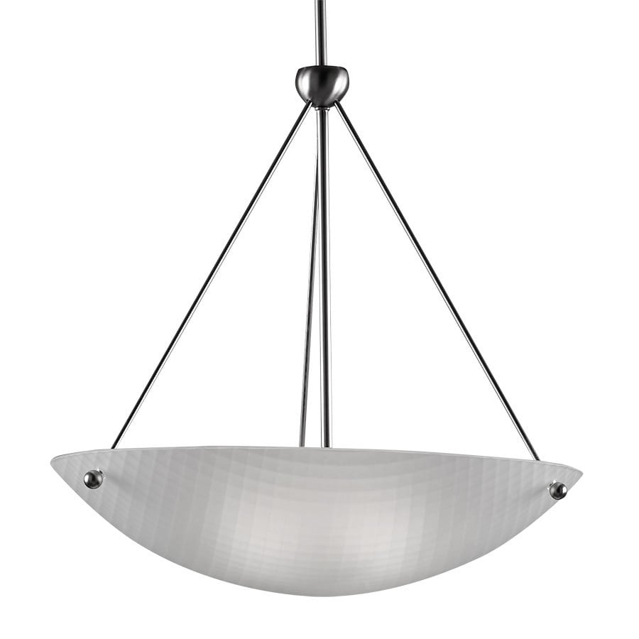 Westwood Collection Basket Weave 22-in Brushed Nickel Single Pendant