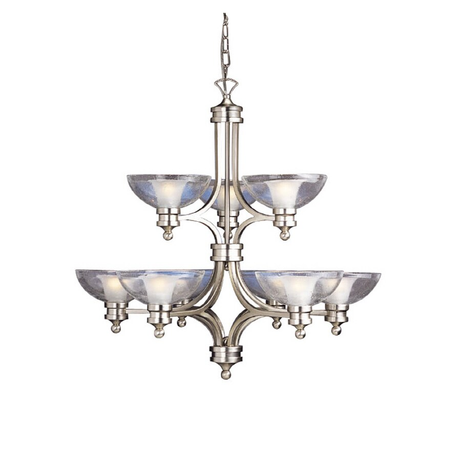 Portfolio 9 Light Brushed Nickel Transitional Chandelier