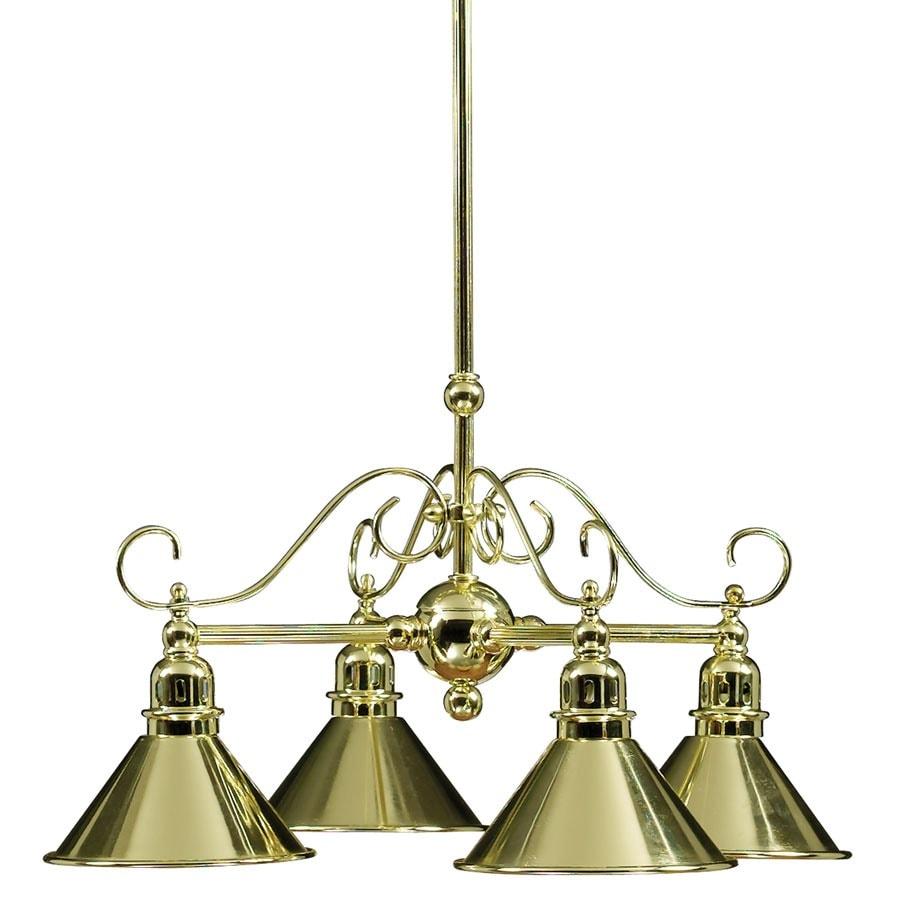 Portfolio 16-in 4-Light Polished Brass Mini Chandelier