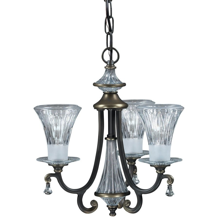 Portfolio Windham 14-in 3-Light Olde bronze Chandelier