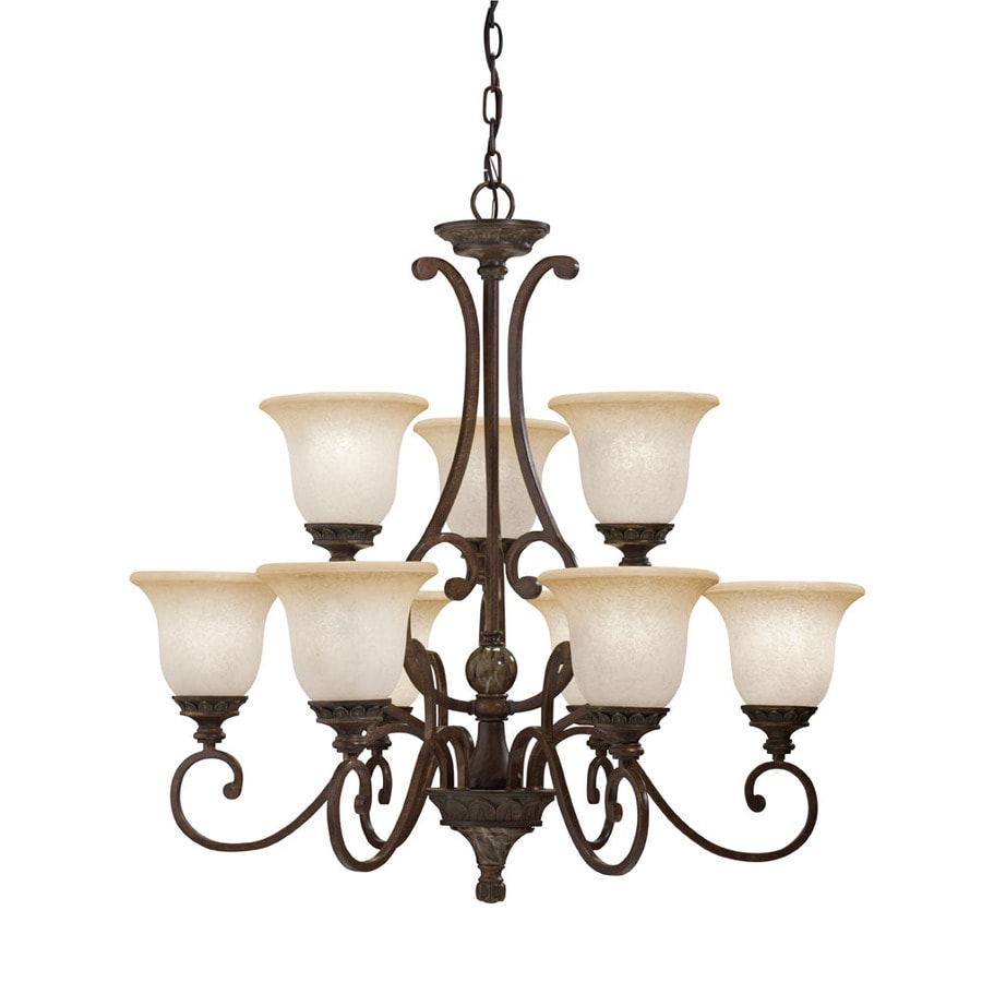 Portfolio Lola 31 In 9 Light Golden Bronze Standard Chandelier