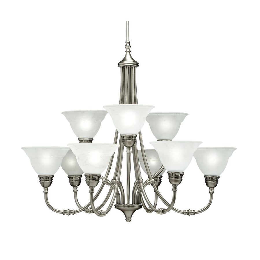 Portfolio Newport 9-Light Antique Pewter Chandelier - Shop Portfolio Newport 9-Light Antique Pewter Chandelier At Lowes.com